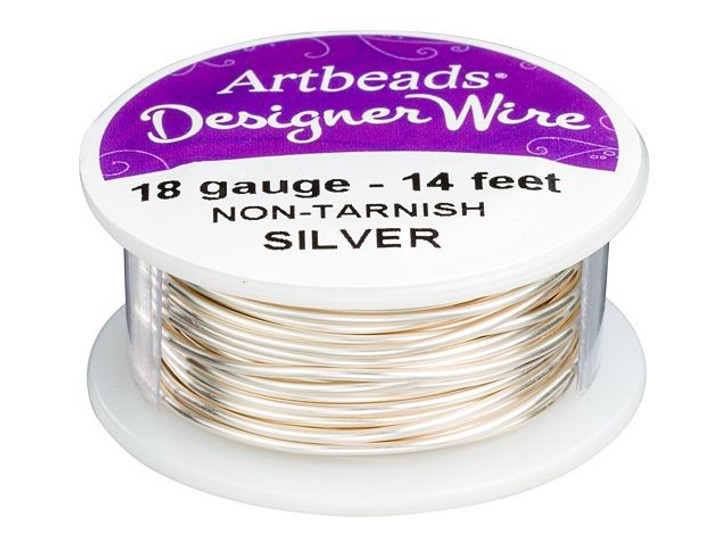 Artbeads Designer Wire - Silver Non-Tarnish 18 Gauge (14-foot spool)