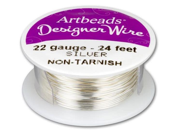 Artbeads Designer Wire - Silver Non-Tarnish 22 Gauge (24-foot spool)