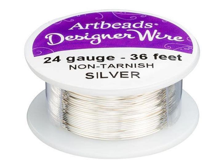 Artbeads Designer Wire - Silver Non-Tarnish 24 Gauge (36-foot spool)