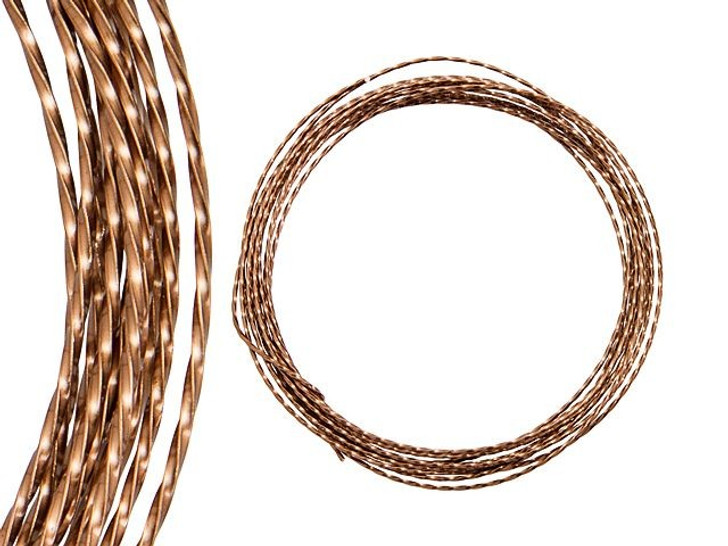 Artbeads Designer Wire - Twisted 21 Gauge - 7 Feet Non-Tarnish Antique Copper