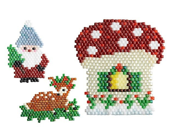 Artbeads Fawn, Gnome, and Their Home Brick Stitch Jewelry Kit(featuring TOHO Treasure Beads)