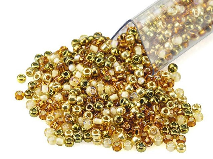 Artbeads Golden Age Designer Blend, TOHO 11/0 Round Seed Beads