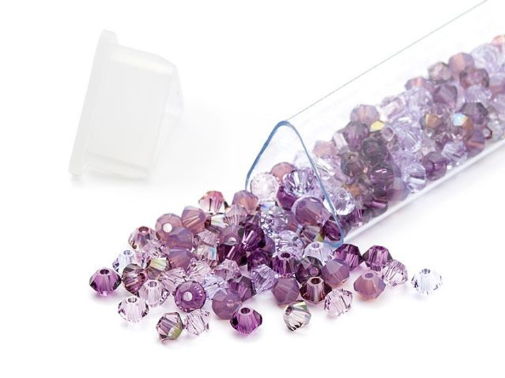 Swarovski 5328 3mm Bicone Lavender Fields Designer Bead Blend