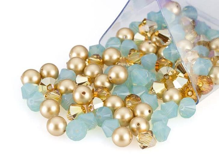 Swarovski 6mm Crystal Mix Cleopatra Gold Designer Bead Blend