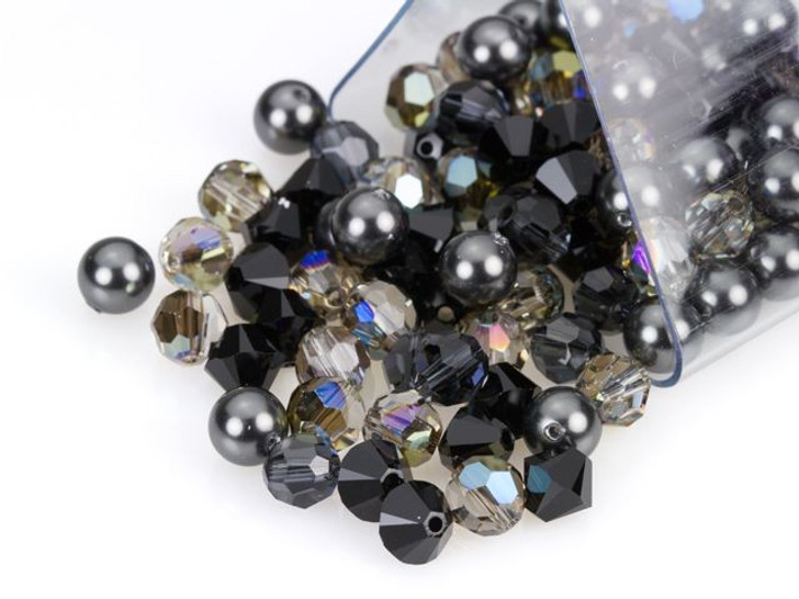Swarovski 6mm Crystal Mix Granite Sparkle Designer Bead Blend