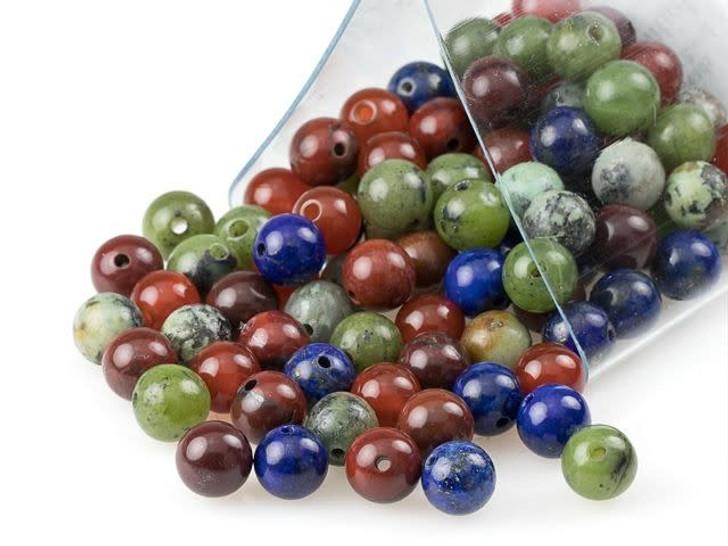 Artbeads Potential Designer Blend, 6mm Round Gemstone Beads
