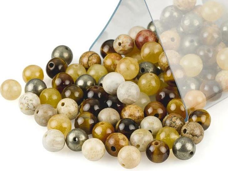 Artbeads Prosperity Designer Blend, 6mm Round Gemstone Beads
