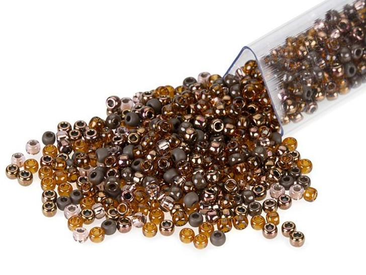 Artbeads Caramel Brownie Designer Blend, TOHO 11/0 Round Seed Beads
