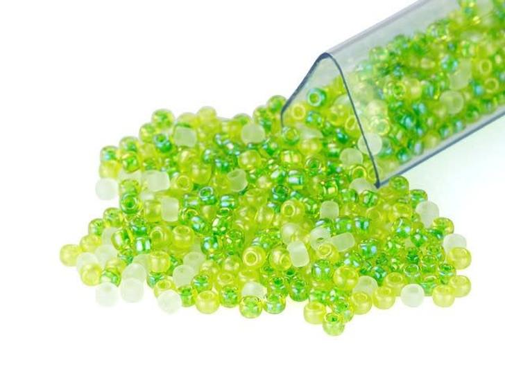 Artbeads Fresh Green Designer Blend, TOHO 11/0 Round Seed Beads