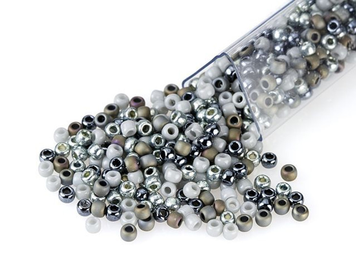 Artbeads Graphite Gray Designer Blend, TOHO 11/0 Round Seed Beads