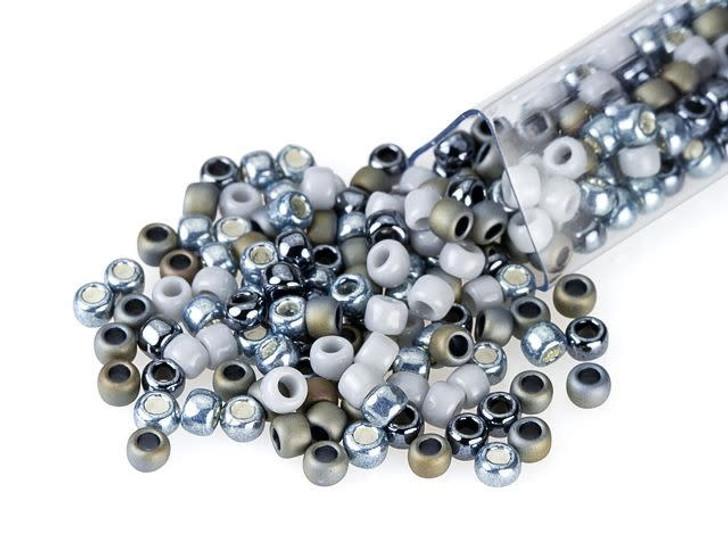 Artbeads Graphite Gray Designer Blend, TOHO 8/0 Round Seed Beads