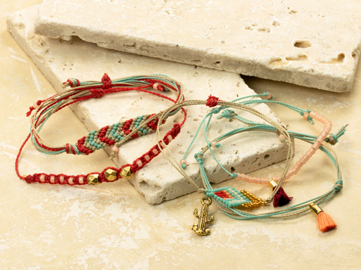 How to Make Stacked Cord Bracelets