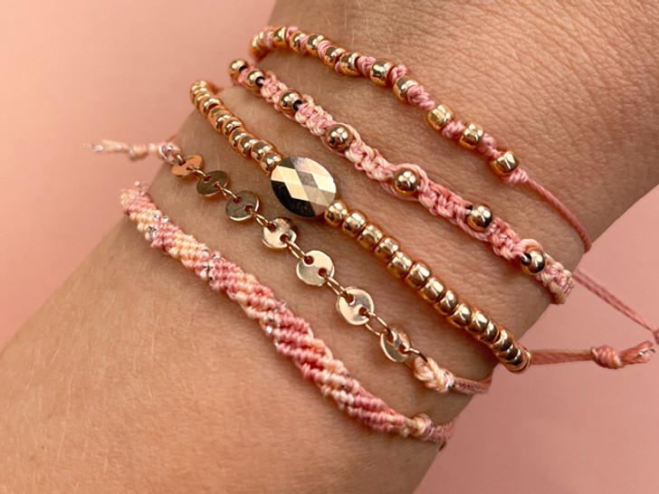 Rose Gold Stacked Bracelets