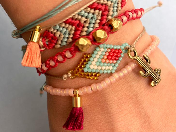 Cactus Stacked Bracelets