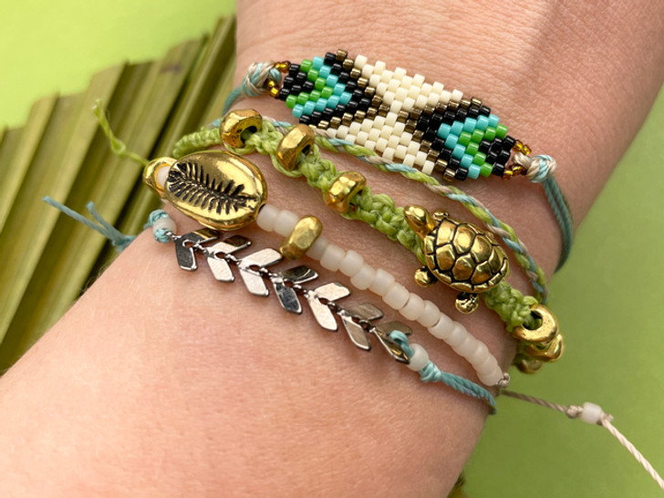 Save the Turtles Stacked Bracelets