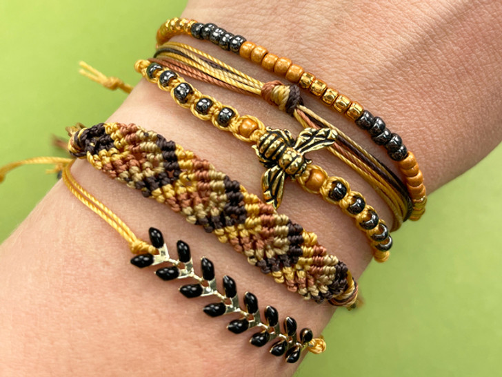 Honey Bee Stacked Bracelets