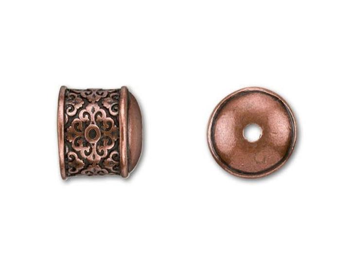 B&B Benbassat 10mm Antique Copper-Plated Pewter Filigree End Cap