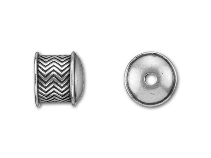 B&B Benbassat 10mm Antique Silver-Plated Pewter Squiggle End Cap