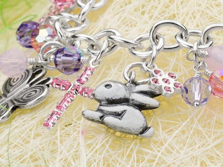 B&B Benbassat 15x12mm Antique Silver-Plated Pewter Bunny Charm