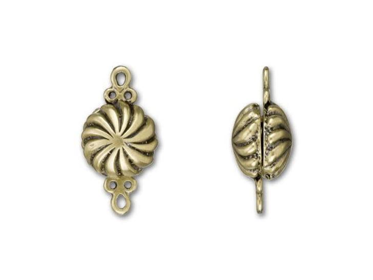 B&B Benbassat Antique Brass-Plated Brass Small Magnetic Clasp