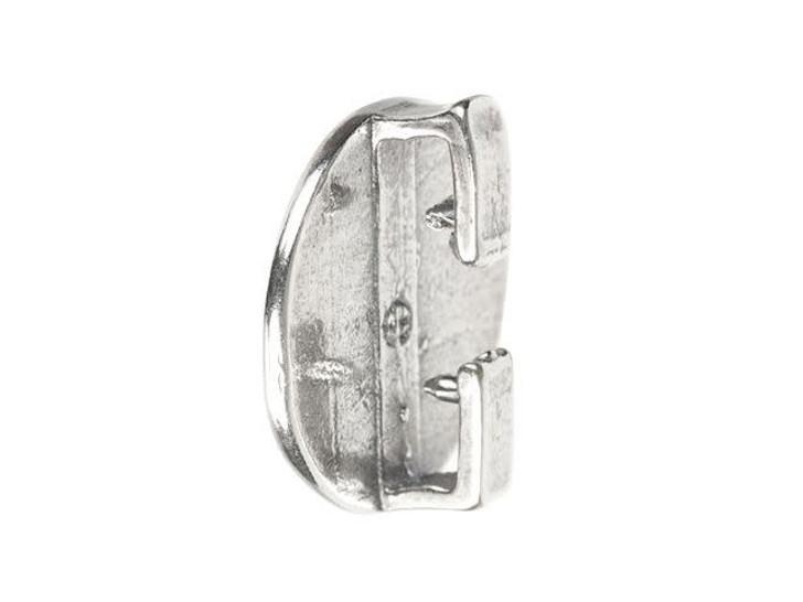 B&B Benbassat Antique Silver-Plated Brass Love Face Emoji Slider Bead