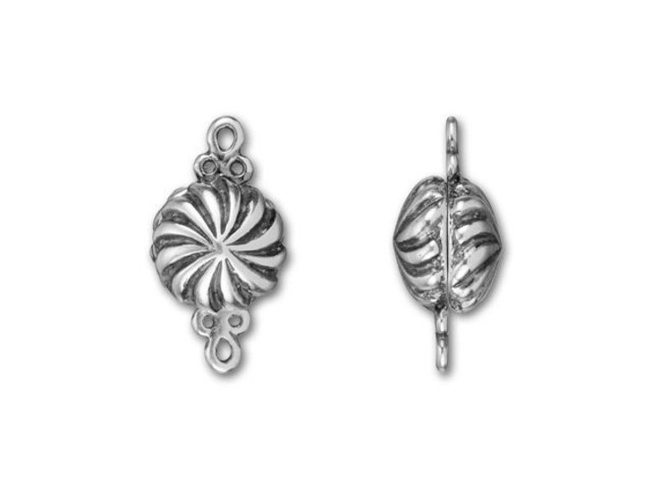 B&B Benbassat Antique Silver-Plated Brass Small Magnetic Clasp