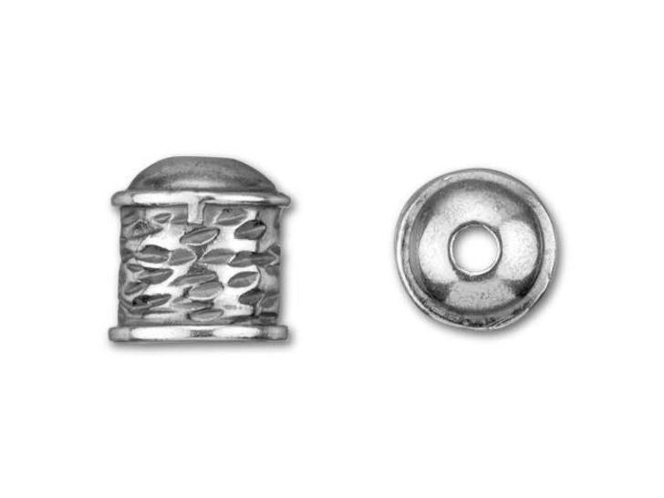 B&B Benbassat Antique Silver-Plated Brass Small Viking Knitting Endcap with Wave Design