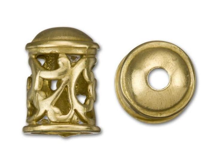 B&B Benbassat Brass-Plated Brass Viking Knitting Endcap