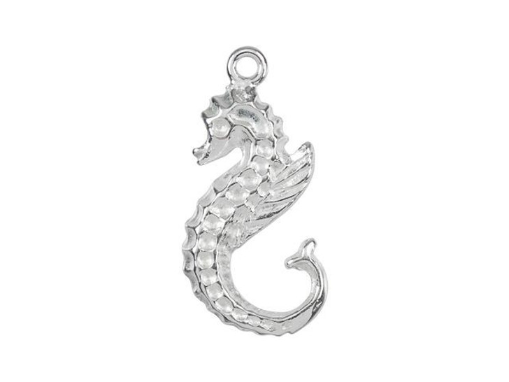 B&B Benbassat Silver-Plated Brass Left-Facing Seahorse Charm