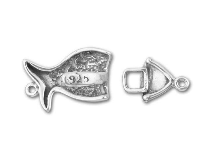 B&B Benbassat Sterling Fish Hook and Eye Clasp