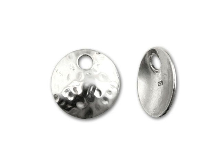 B&B Benbassat Sterling Silver 12.2mm Hammered Round Charm