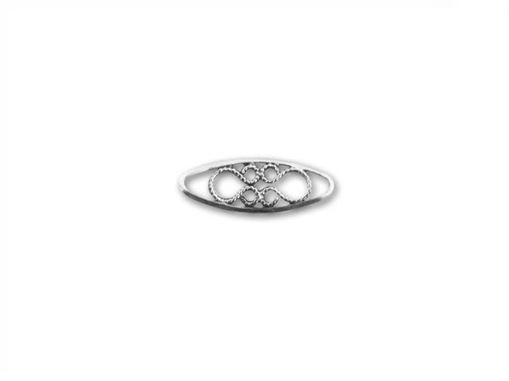 B&B Benbassat Sterling Silver 12.8x4.7mm Filigree Link