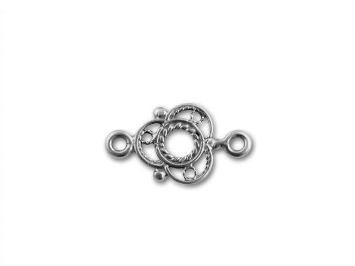 B&B Benbassat Sterling Silver 17x9.5mm Filigree Link