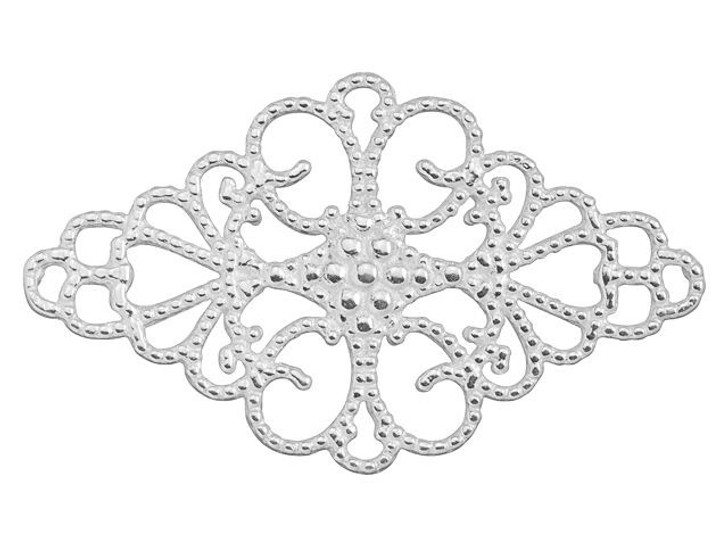 B&B Benbassat Sterling Silver Filigree Diamond Shaped Embellishment