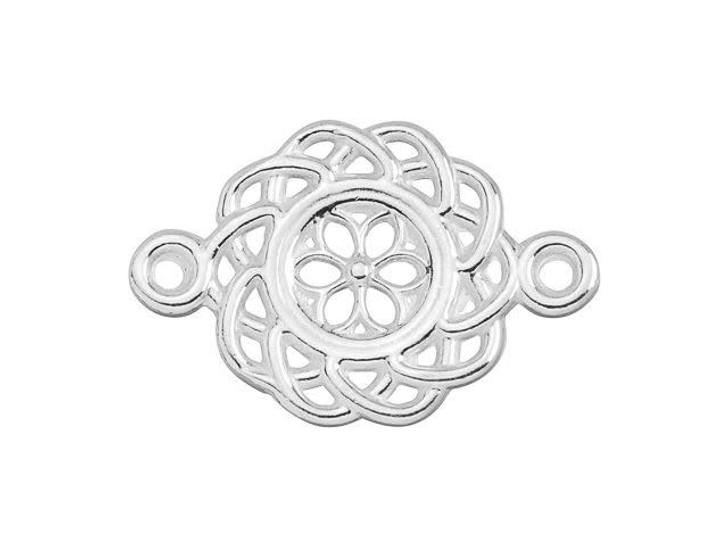 B&B Benbassat Sterling Silver Filigree Floral Link