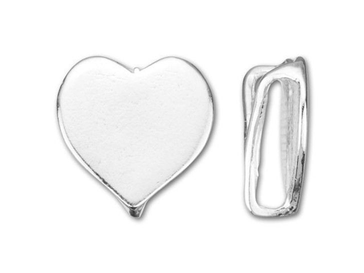 B&B Benbassat Sterling Silver Heart Slider Bead