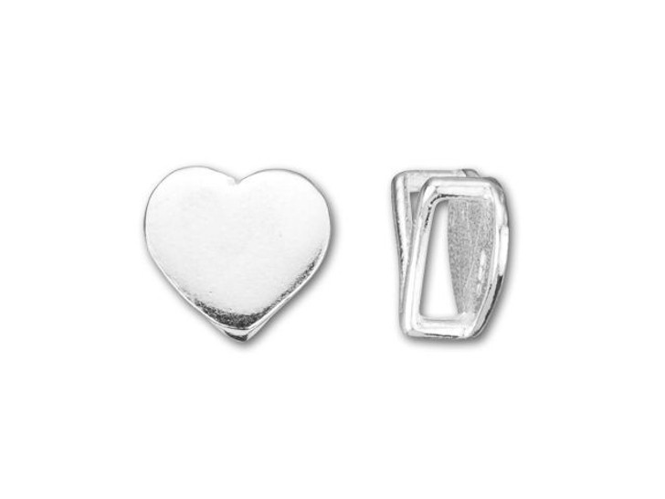 B&B Benbassat Sterling Silver Small Heart Slider Bead