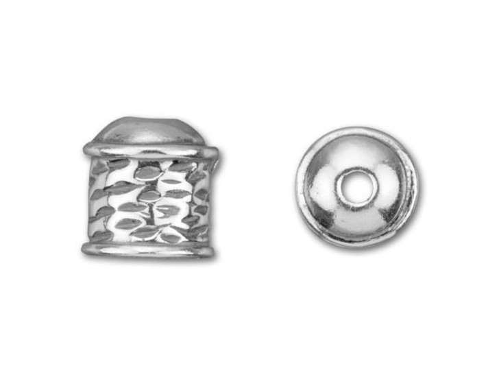 B&B Benbassat Sterling Silver Small Viking Knitting Endcap with Wave Design