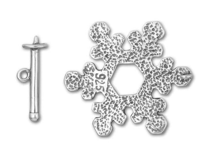 B&B Benbassat Sterling Silver Snowflake Toggle Clasp