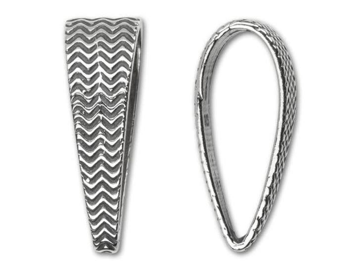 B&B Benbassat Sterling Silver Weave Design Bail