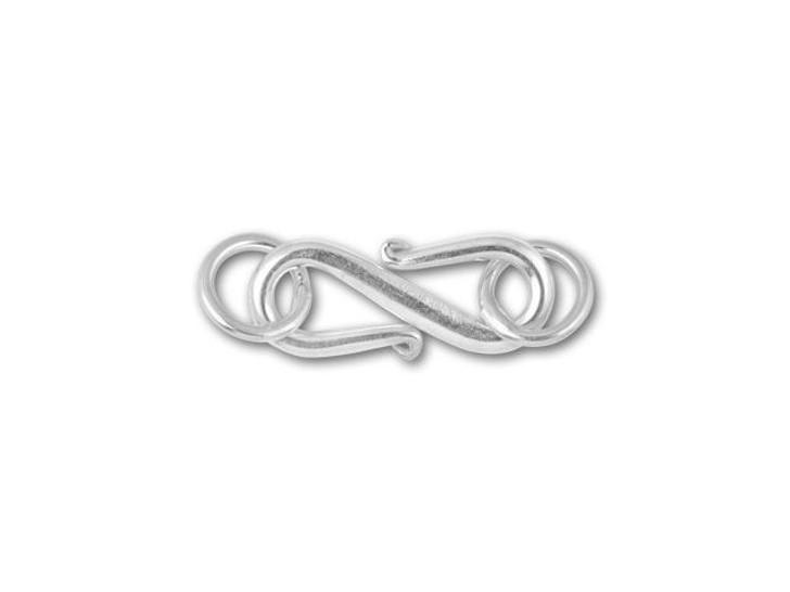 Bali Silver 17mm Simple S Clasp