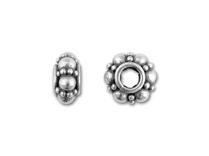 Bali Silver 6mm Spacer with Large and Small Granulation