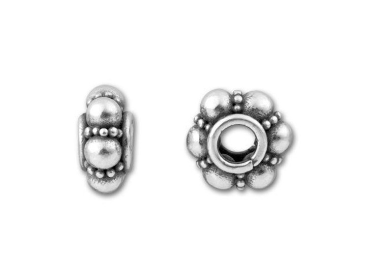 Bali Silver 9mm Spacer with Large and Small Granulation