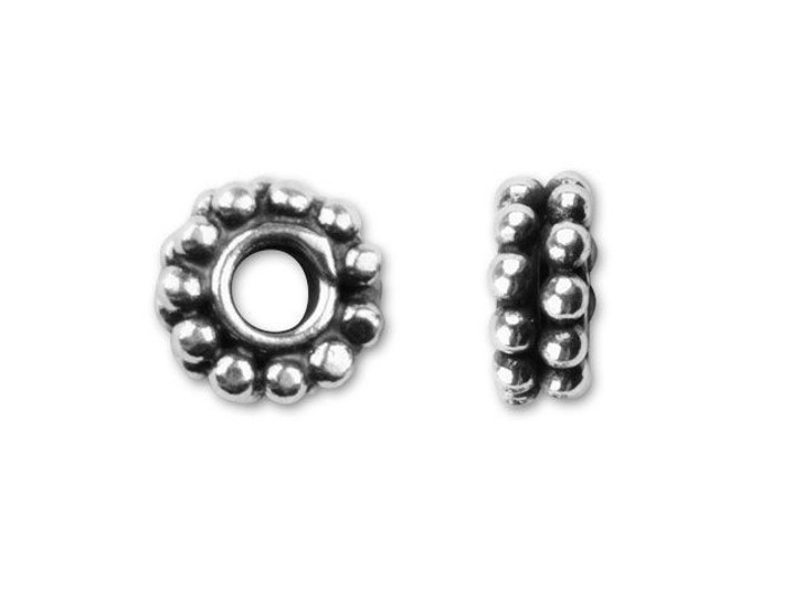 Bali Silver Double Daisy Spacer