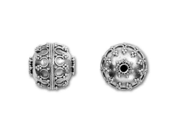 Bali Silver Large Round Bead