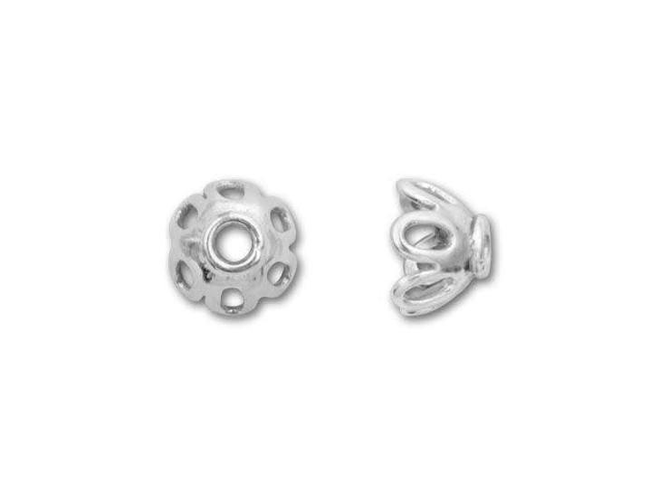 Bali Silver Open Oval Design Bead Cap