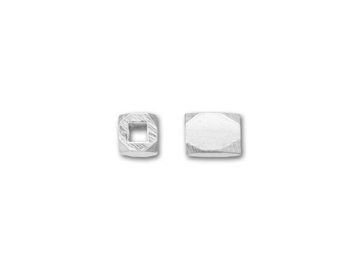 Bali Silver Rectangular Faceted Spacer