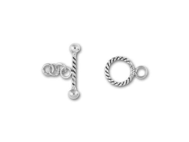 Bali Silver Small Twisted Toggle Clasp