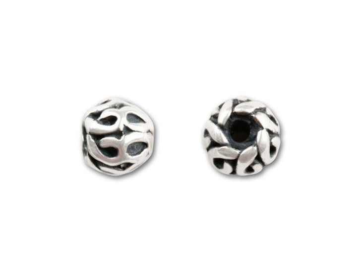 Bali Silver Spacer with Looped Wire Work, 4.5mm