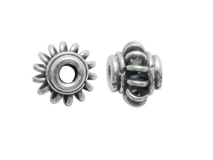 Bali Silver Spacer with Wire Center